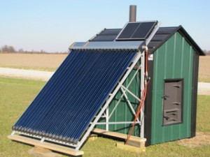 outdoor solar furnace